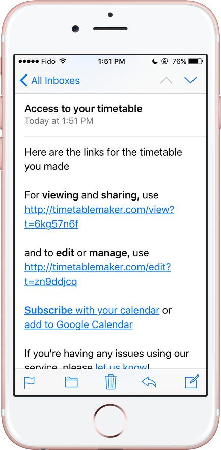Links in Mail on iPhone